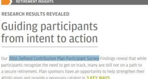 plan sponsor behavior