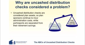 Uncashed Distribution Checks